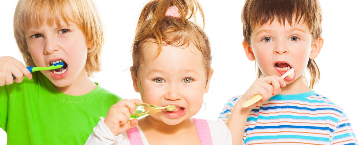 Children brushing teeth at Orleans Family Dentist