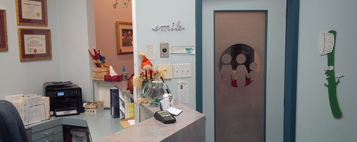 Reception Desk at Orleans Family Dentist